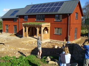 Finishing the passivhaus at Culbokie, May 2013